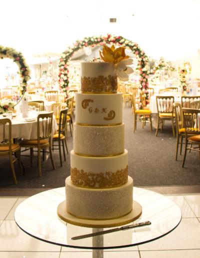 Kiran wedding cake