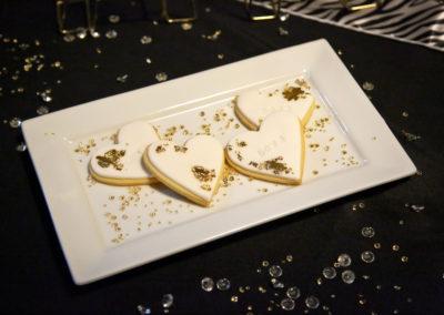 Love heart biscuit desserts
