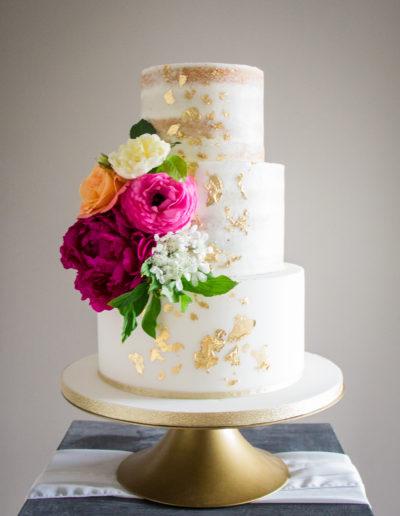 Suzy semi naked & iced wedding cake